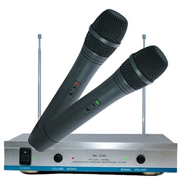 Set 2 microfoane wireless karaoke AK-3300